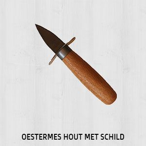 Oestermes-hout-schild